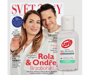 Aktuální vydání Svět Ženy 5/2021 + antibakteriální gel na ruce Savo (pouze pro ČR)