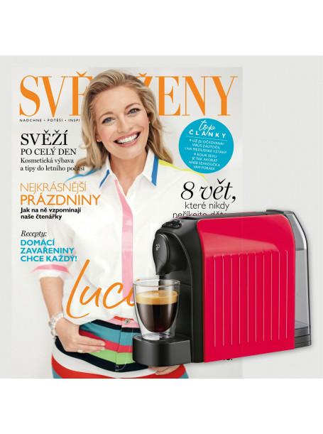 Dvouleté  předplatné Svět ženy + kávovar Tchibo Cafissimo Easy RED