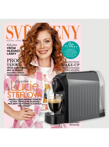 Dvouleté  předplatné Svět ženy + kávovar Tchibo Cafissimo Easy GREY